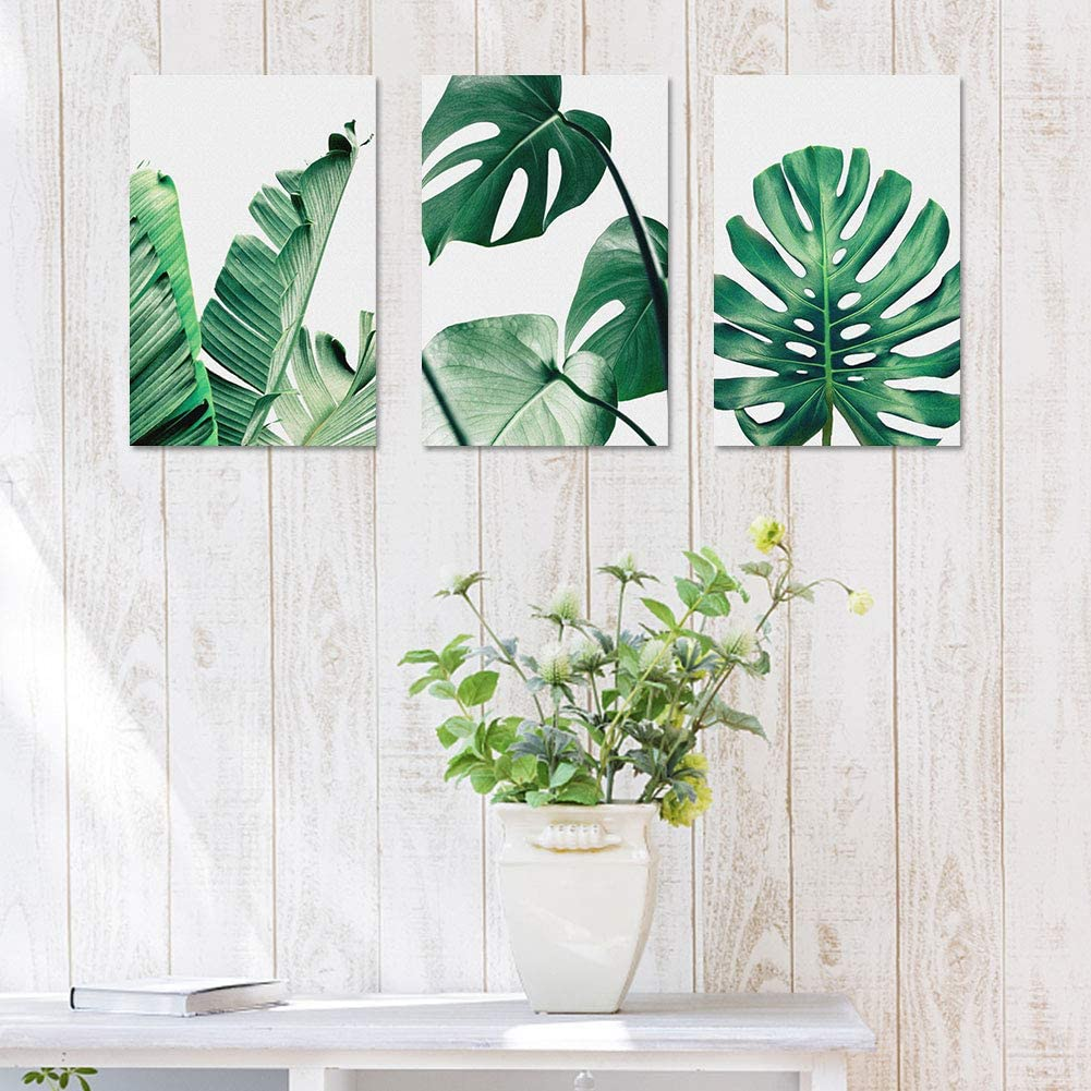 Botanical Prints Wall Art Decoration Framed Oil Paintings Modern Framed Minimalist Water Color Set for Bedroom Decor Posters Yinuoday Canvas Wall Art for Living Room