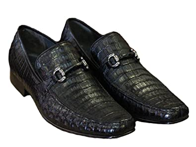 real quality arriving super specials Amazon.com | Exotic Genuine Crocodile Caiman Belly Loafers ...