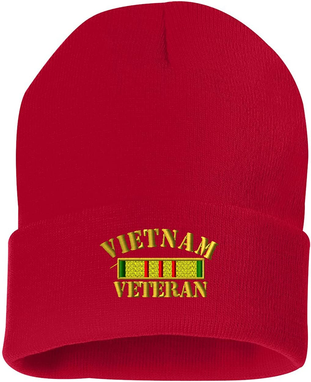 Vietnam Veteran Flag Custom Personalized Embroidery Embroidered Beanie