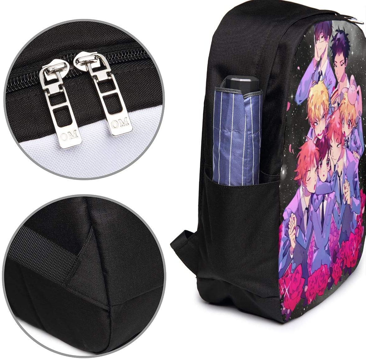 Travel Bag Mountaineering Bag Chenhgee Ouran High School Host Club 3D Printing 17in with USB Backpack,School Bag