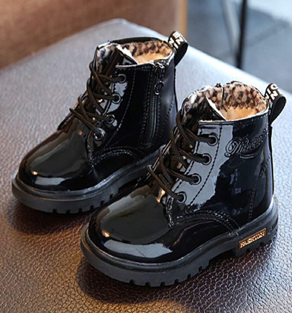 Chaussures B/éb/é Binggong Chaussures Enfants Mode Martin Sneaker Bottes Enfants Chaud Gar/çons Filles B/éb/é Occasionnel Chaussures