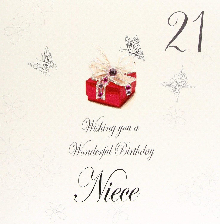 White Cotton Cards bdp21-n - Felicitación para Cumpleaños ...