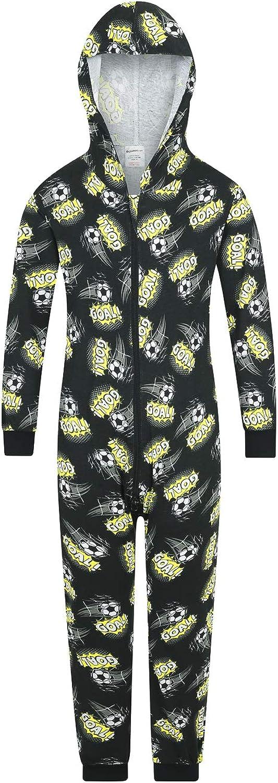 calcio The PyjamaFactory Tutina al 100/% in cotone motivo con porta e la scritta goal