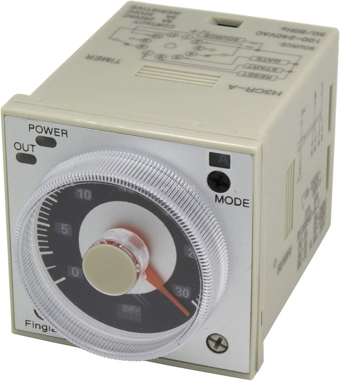 JSJJARF Relé H3CR-A 11 Pin Time Relay H3CR Serie Temporizador de retardo AC 100-240V DC 24V 12V (Size : 24VDC)