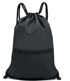 Amazon Com Drawstring Backpack Bag String Waterproof Sackpack