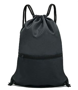 df4ffbef1f4c HOLYLUCK Drawstring Backpack Bag Sport Gym Sackpack