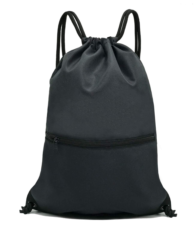 0627c6586579 HOLYLUCK Drawstring Backpack Bag Sport Gym Sackpack product image