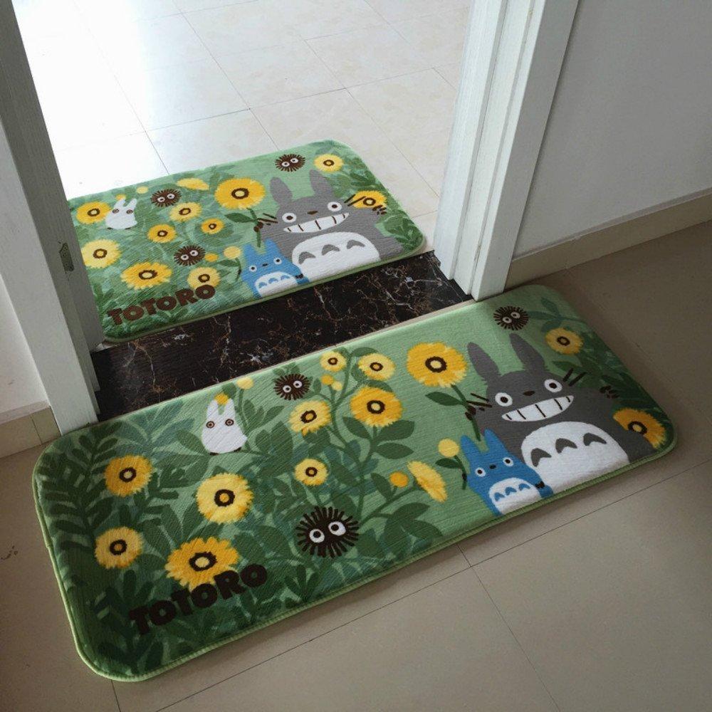 Sytian Super Soft Non-slip Nice Flower Design My Neighbor Totoro Shaggy Area Rugs Carpet Bedroom Rug Bath Mat Bathroom Rug Kitchen Floor Mat Shower Rug (50x80cm) Stay Young shaggy area Rug 888899