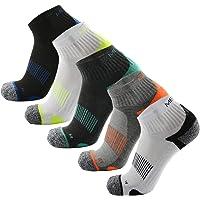 Meikan Low Cut running socks, Men & Women, 5 Pairs Half Cushioned Sports Socks