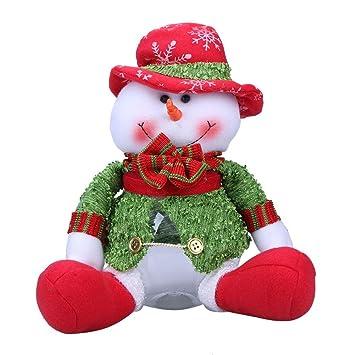 Navidad Tarro del caramelo Navidad caramelo Botella Caja de almacenamiento Grandes latas redondas de caramelo para
