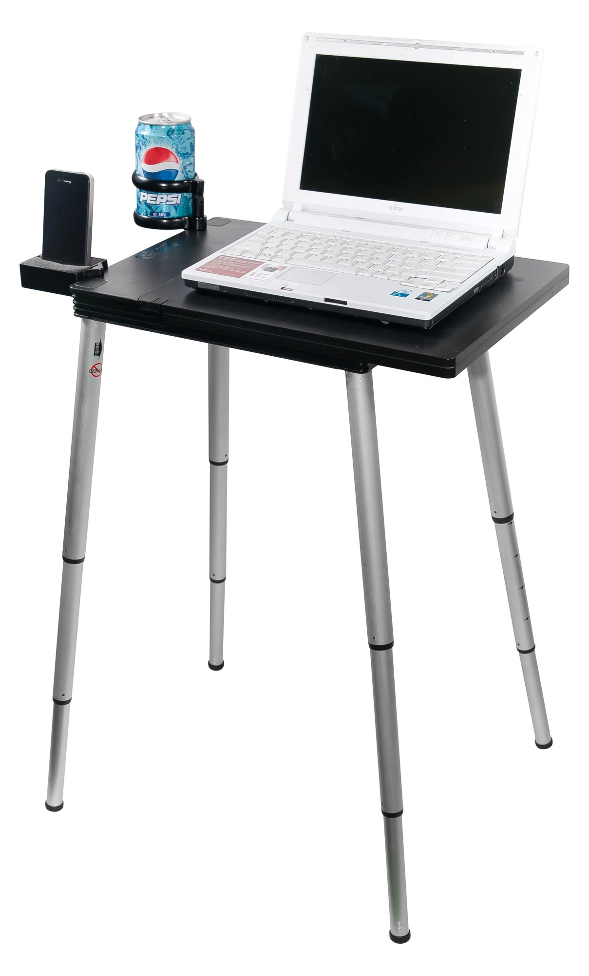 Tabletote Plus Black Portable Compact Lightweight Adjustable Height Laptop Notebook Computer Stand by Tabletote