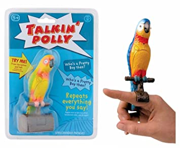 Dischi di Polly Talking Talking Bird Toy Parrot 2IYeW9bDHE
