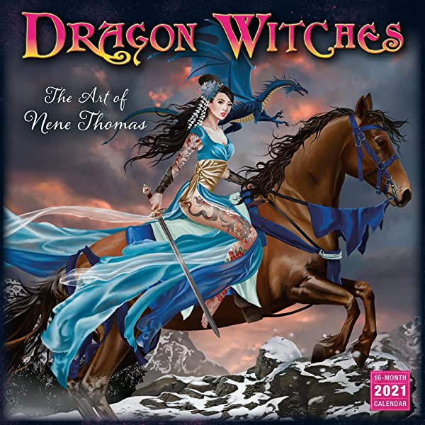 Nene Thomas 2021 Calendar 2021 Dragon Witches The Art of Nene Thomas 16 Month Wall Calendar