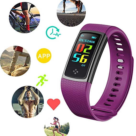 Amazon.com: Hangang Color Display Smartwatch Fitness Tracker ...