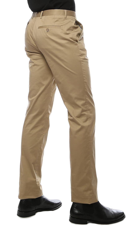 Ferrecci Mens Modern Fit Unhemmed Cotton Chino Dress Pants
