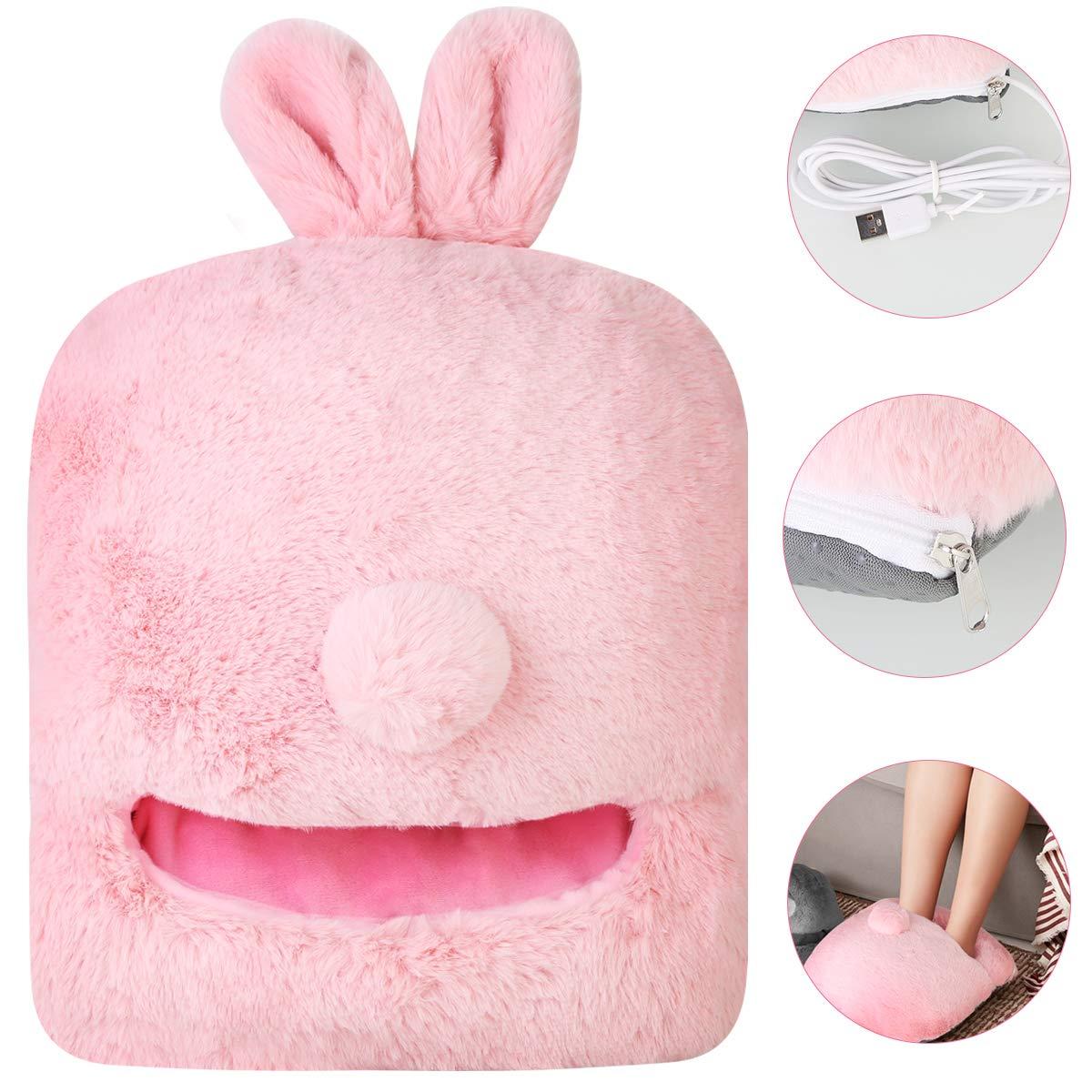 USB Calentador el/éctrico del pie Calentador Calentador Coj/ín c/álido Calzado de invierno Calentador Calentador del pie Calentador Calzado Calzado el/éctrico Color : Pink