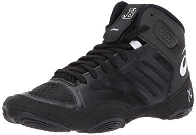 eb45137a8a03 ASICS Unisex Kids JB Elite III GS Wrestling Shoe Black White 1 Medium US Big