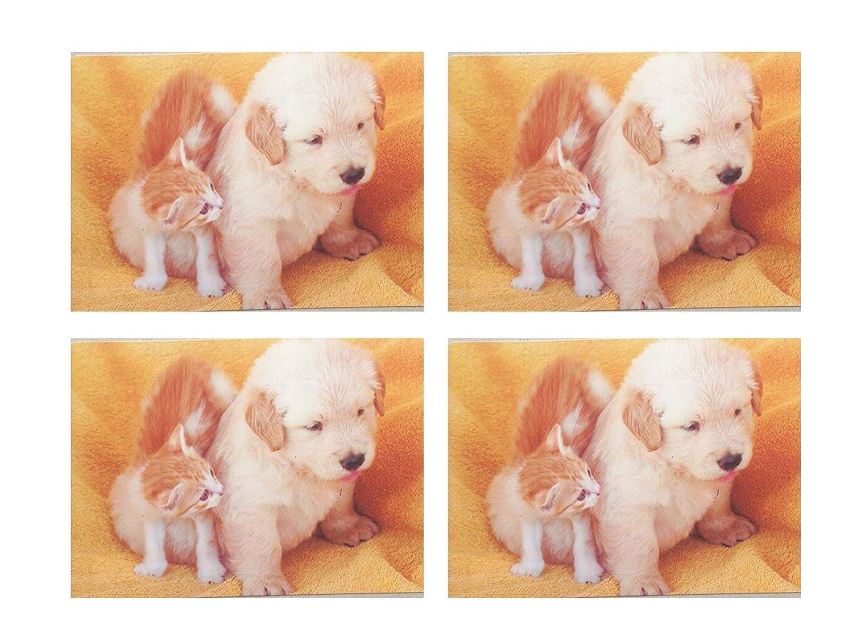 Regalo para ni/ños 4 x Tapete de Mesa para amasar Juego de manteles Individuales Mantel de Mesa pl/ástico Gato Juego de manteles Individuales Mesa de Comedor AMJ Perro Animales 42 x 28 cm