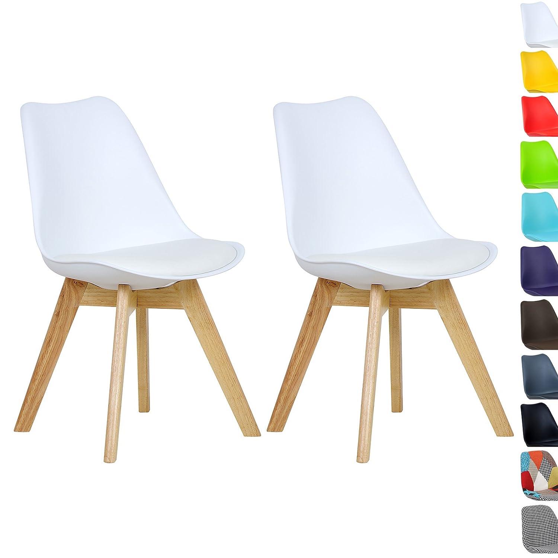 WOLTU BH29ws-2 2 x Esszimmerstühle 2er Set Esszimmerstuhl Design ...