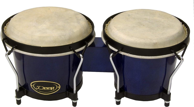 Bongos en color azul Deep BG500BLU piel de bufalo: Amazon ...