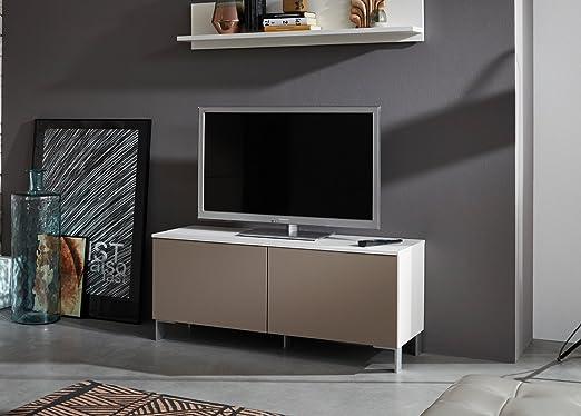 lifestyle4living - Mueble bajo para televisor, Mesa de TV, cómoda, Mueble de televisión, aparador, Armario, Mueble de TV, Color Blanco, Arena, Beige, súper Mate,: Amazon.es: Juguetes y juegos