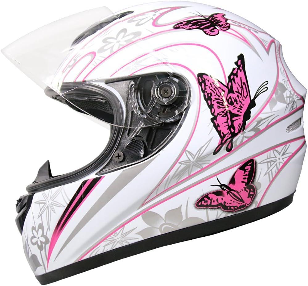 Free Mirrored Visor Black XS Leopard LEO-819 Full Face Motorbike Motorcycle Helmet 53-54cm
