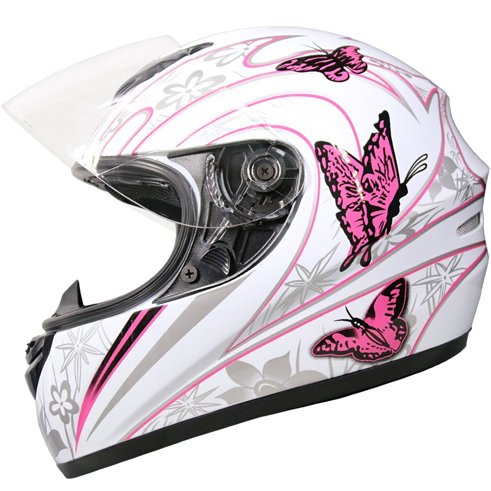 Butterfly M Leopard LEO-819 Full Face Motorbike Helmet Motorcycle Road Legal 57-58cm