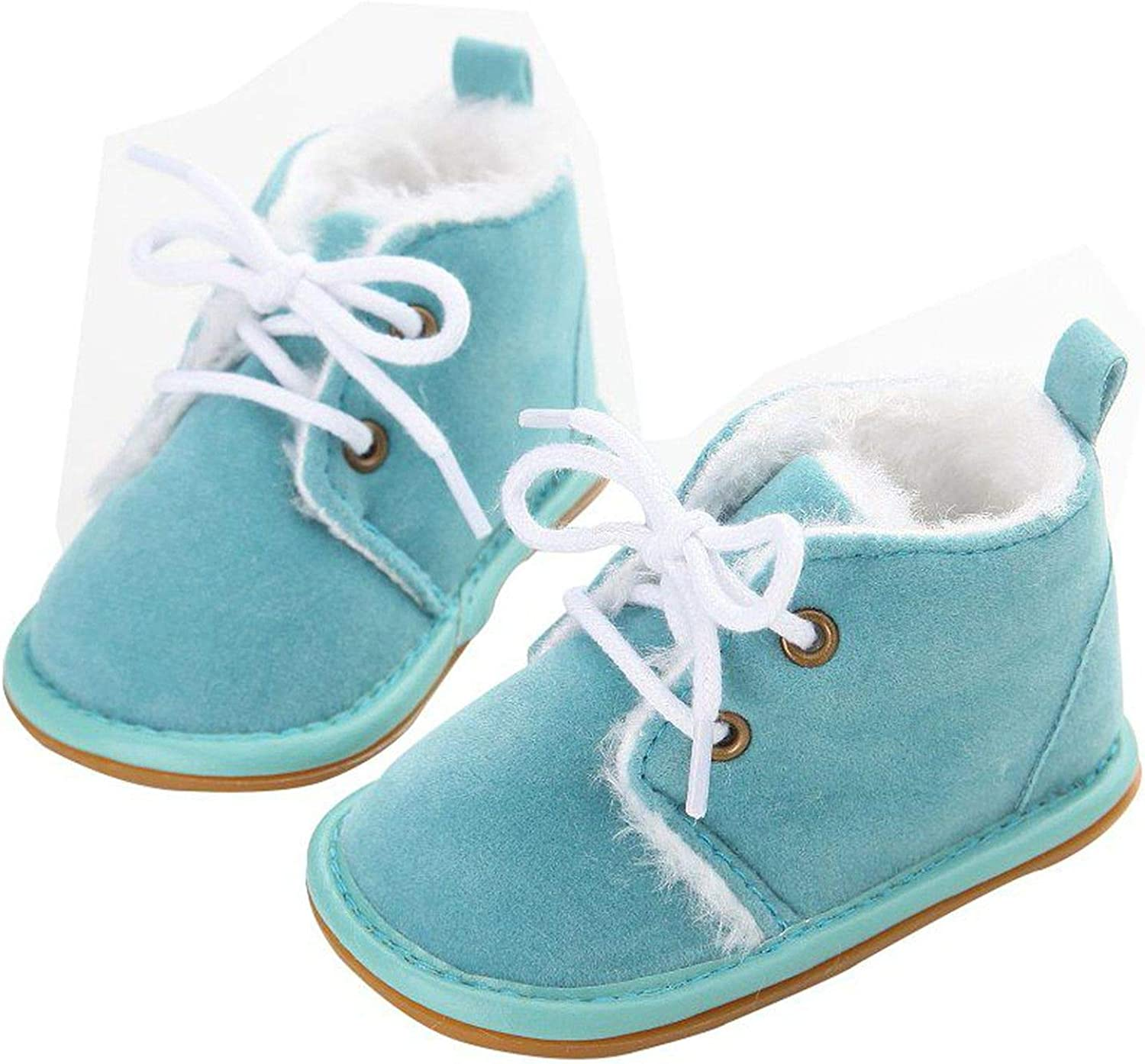 Beautymade Toddler Infant Newborn Baby Boy Girl Winter Fur Snow Boots Warm Shoes Booties Casual First Walkers 0-18M