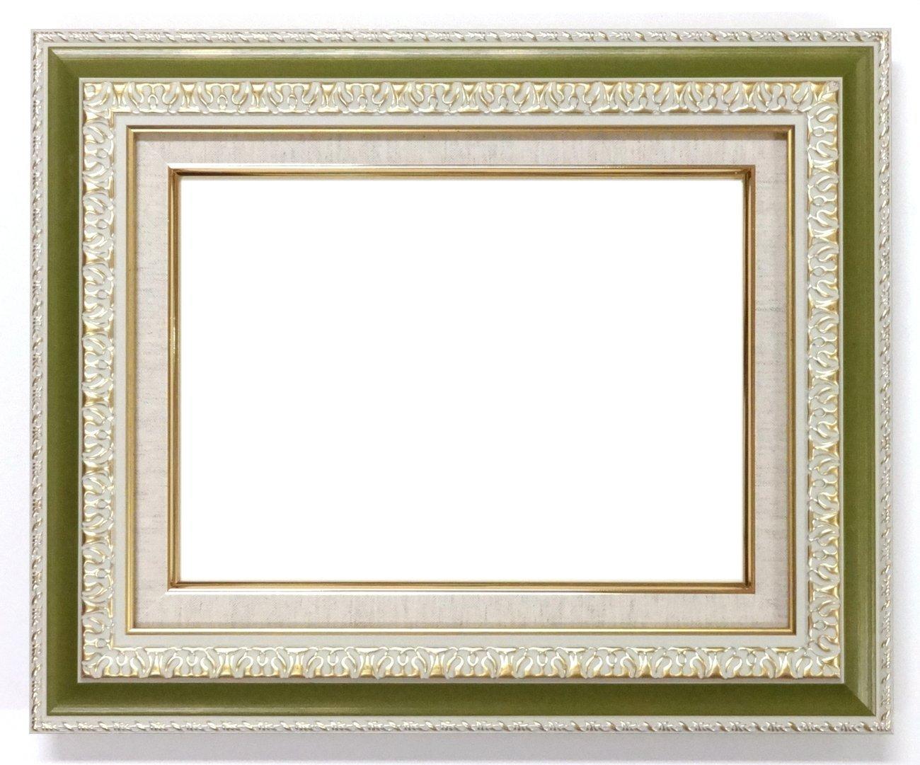 大額 油彩用額縁 8145 アクリル仕様 壁用フック付 (F10, G/グリーン) B01MYWNPB9 F10|G/グリーン G/グリーン F10