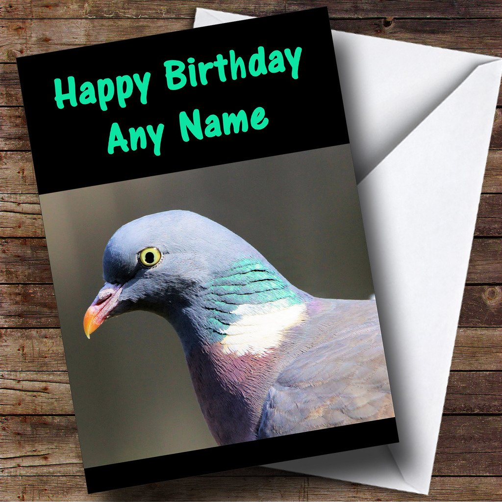 Pigeon Personalised Birthday Card Amazon Office Products