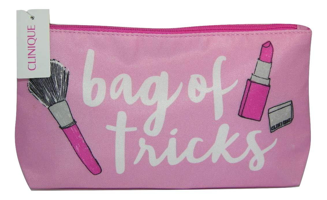 Clinique - Bolsa de maquillaje pequeña rosa y blanca con ...