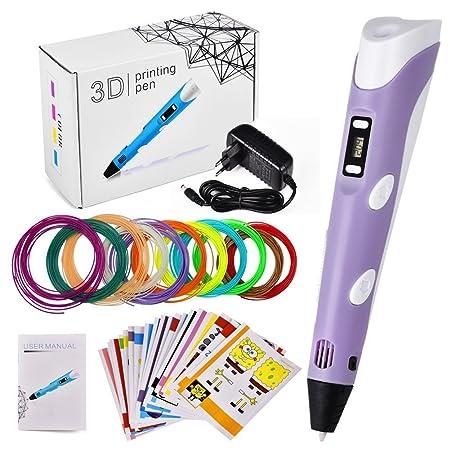 Lápiz lápiz Impresora 3d Pen Set Con Pantalla Lcd + 11 PLA ...