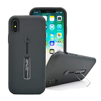 huge selection of 2253d d8401 Amazon.com: iPhone X Finger Strap Case Ring Holder Grip Holds Device ...