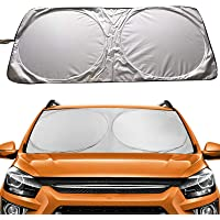 "Car Windshield Sun Shade(59""x27.6""), Proxima Direct Sun Protector for Car Safe Windshield Sunshade Maximum UV Sun…"