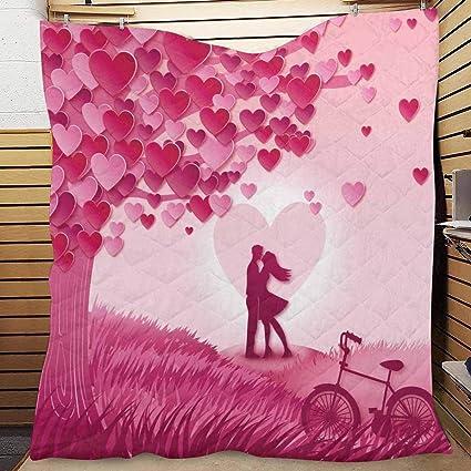 fce279063343 Amazon.com: InterestPrint Valentine's Day Heart Shaped Tree Cotton ...