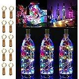 LiyuanQ 10 Pack 20 LED Wine Bottle Cork Lights Copper Wire String Lights, 2M/7.2FT Battery Operated Wine Bottle Fairy Lights