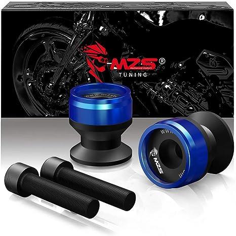 MZS 10MM Swingarm Spools Sliders Stand CNC Universal M10 Blue for Kawasaki Ninja 250R 300R 400R 650R 750R Z250 ZX6R ZX10R ZZR600 KTM Duke 125 200 390 ...