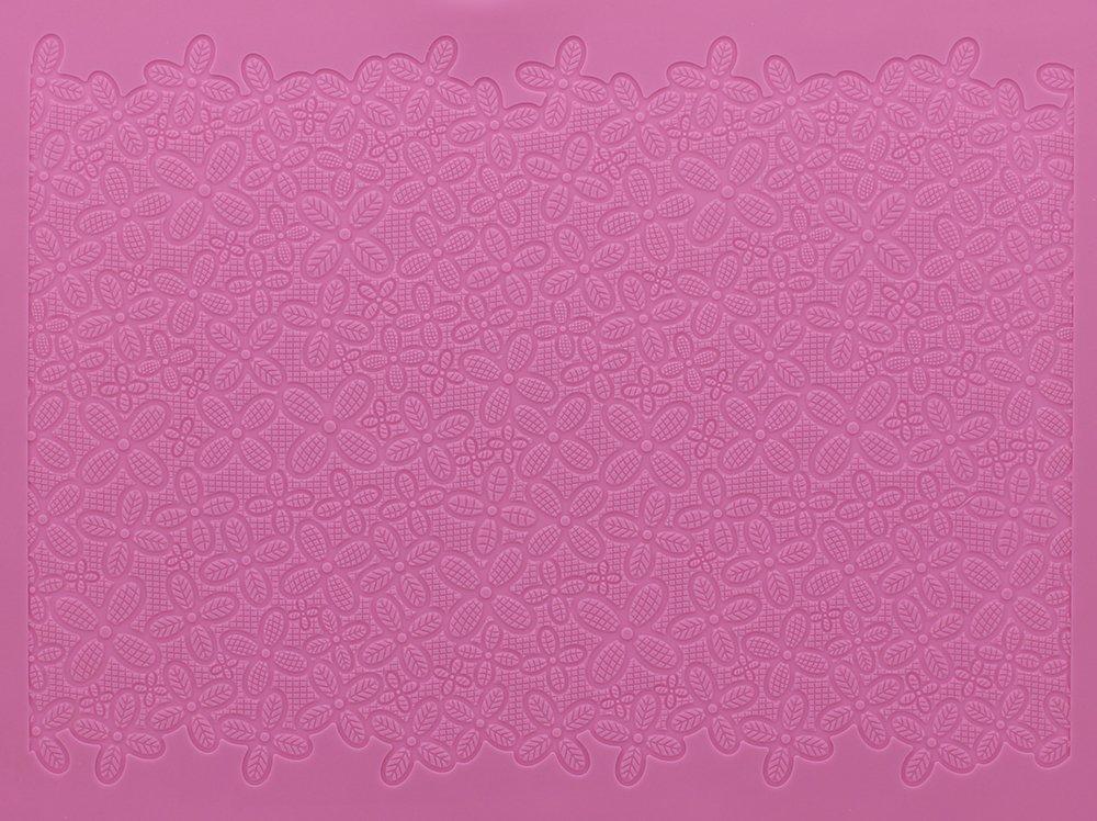 Cake Lace Large Victoriana Mat, Pink