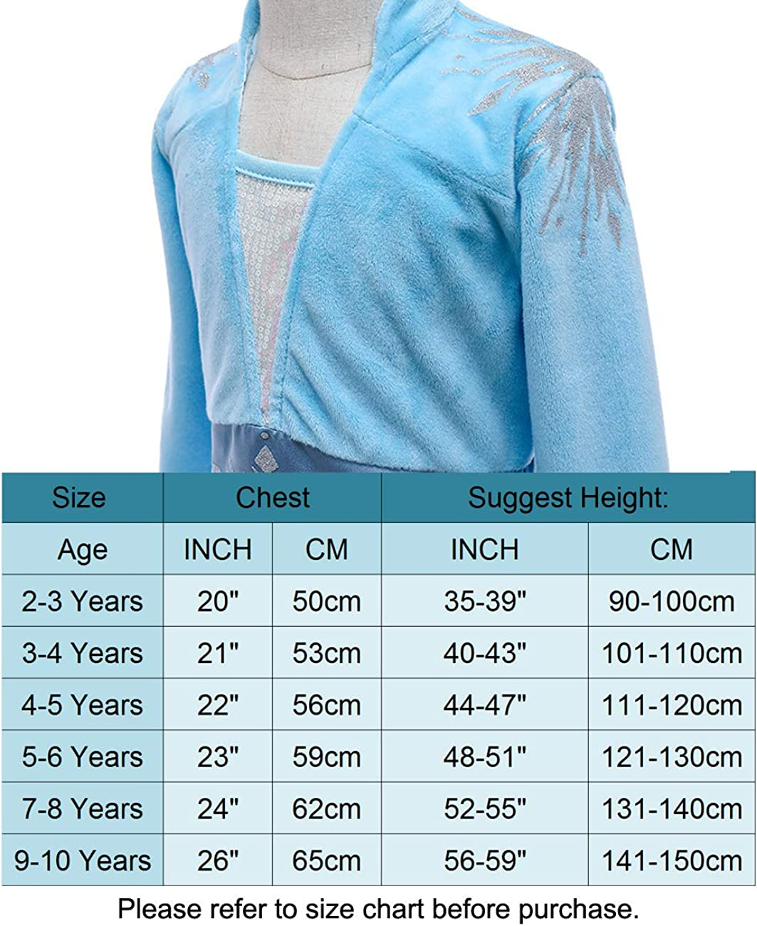 Halloween Elsa Dress Up for Toddlers and Girls. Es Unico Elsa Inspired Dress Costume