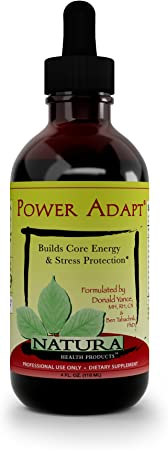 Natura Health Products - Power Adapt Energy and Stress Relief Supplement - Natural Herbal Extracts to Increase Stamina, Build Strength, and Promote Stress Protection - 4 Fluid Ounces