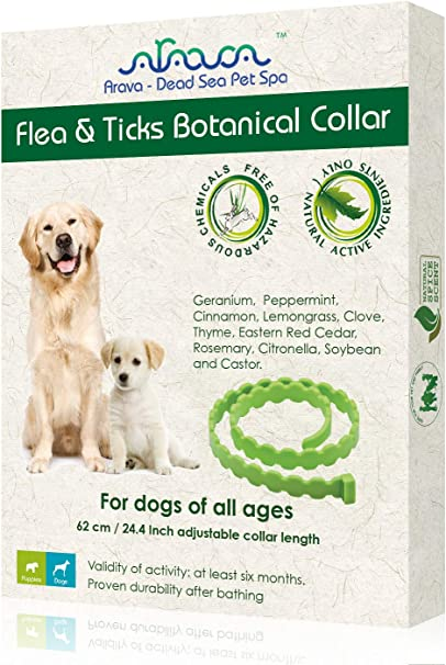 Arava Flea Tick Prevention Collar For Dogs Puppies Length 25 11 Natural Active Ingredients Safe For Babies Pets Safely Repels Pests