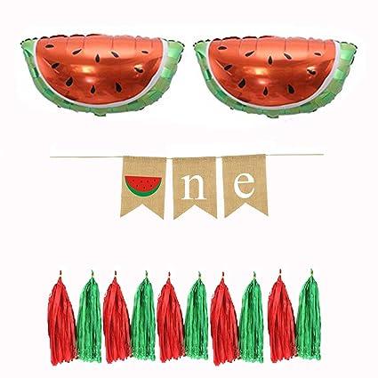 Amazoncom Watermelon Theme Baby Shower Banner Kits 1st Birthday