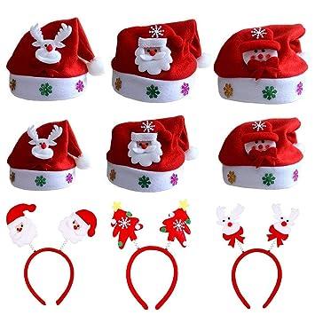 ZYDTRIP 9 Paquetes de Gorro de Navidad para niños y Adultos cdb6d19af63