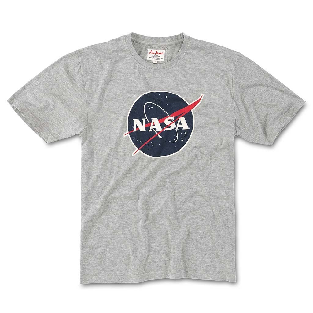 Red Jacket Brass Tacks 2 Short Sleeve Cotton Crew Neck T-Shirt, NASA, Heather Grey, XL