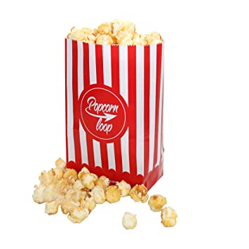 La original palomitas Loop palomitas bolsas 10 x 6 Paquetes 60 unidades en total material de papel experiencia de cine en casa