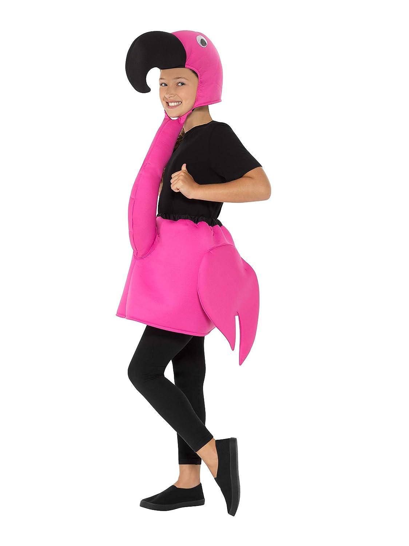 Smiffys 49747 - Disfraz de flamenco para niños (unisex, talla M, 7-9 años), color rosa