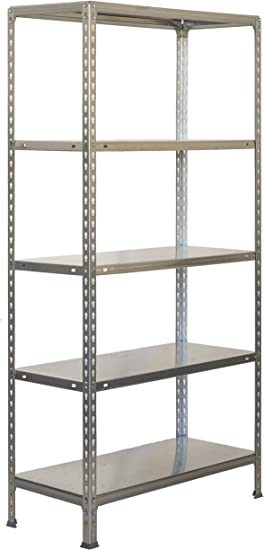 Estantería metálica sin tornillos Ecoclick de 5 estantes ...
