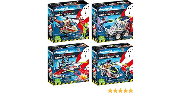 Playmobil 9385 9386 9387 9388 Venkman Spengler Zeddemore Stantz Ghostbusters …: Amazon.es: Juguetes y juegos