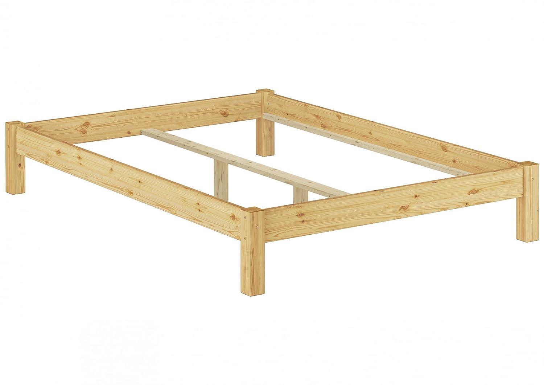 Erst-Holz® Bettgestell Kiefer Natur Einzelbett 120x200 Massivholzbettgestell ohne Rollrost 60.35-12 oR