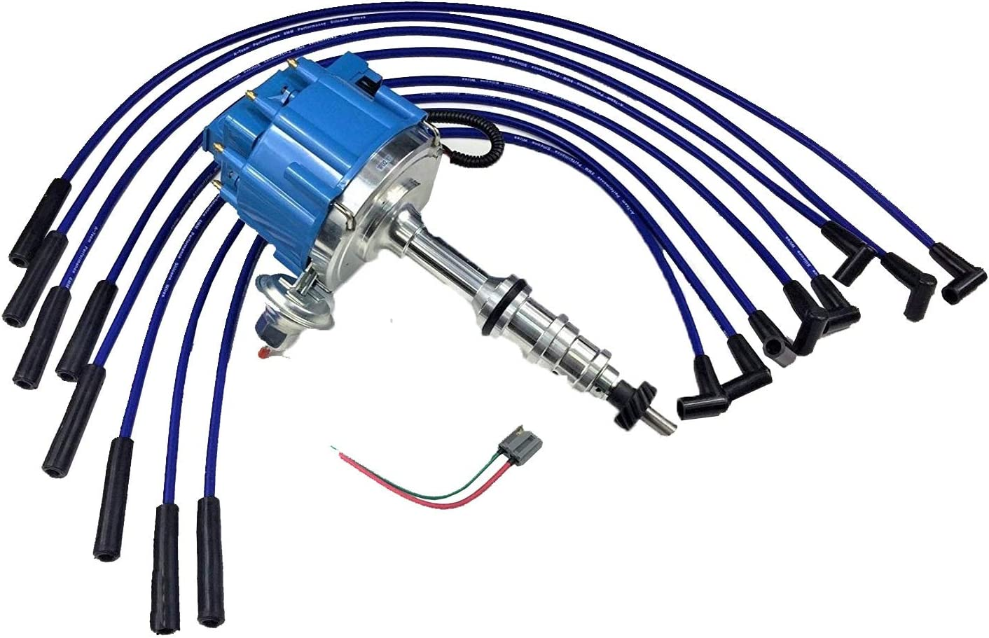 A-Team Performance HEI Complete Distributor 65K Coil Compatible With Ford FE 352 360 390 427 428 One-Wire Installation Red Cap